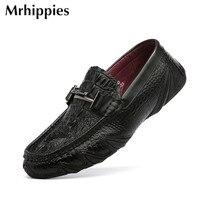 Men Loafers Leather Genuine Luxury Designer Slip On Mens Loafer Shoes Black Tan Italian Brand Dress