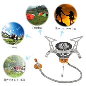 Image 4 - Lixada Outdoor Camping 3200W Grote Power Winddicht Gasfornuis Butaan Brander Draagbare Opvouwbare Split Oven Met 9 Plaat voorruit