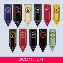 Home Game Of Thrones Stark Flag Families Decor Wolf Dragon Polyester Banner Games Decorate