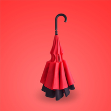 Simple life creative upside down umbrella long handle rain women and men's umbrella creative umbrella