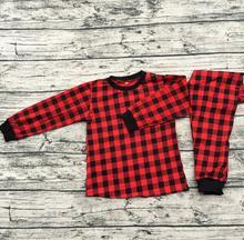 Christmas Boy Girl Buffalo Plaid Pajamas