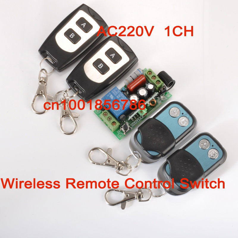 220V 1CH RF Wireless Remote Control System 1switch (receiver) 4remote control (transmitter) Latched add transmiter freely 220v 1ch rf wireless remote control switch system 1 receiver