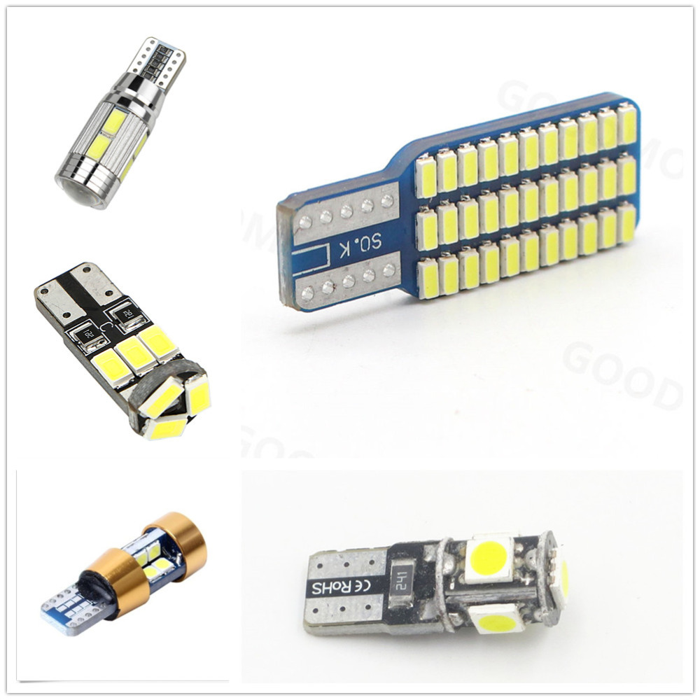 CYAN SOIL BAY 1x 5050 2835 SMD Car T10 T15 Canbus Error Free LED W5W 194 Wedge Replacement Reverse White light bulbs No Error car led 1pcs t10 194 w5w dc 12v canbus 6smd 5050 silicone shell led lights bulb no error led parking fog light auto car styling