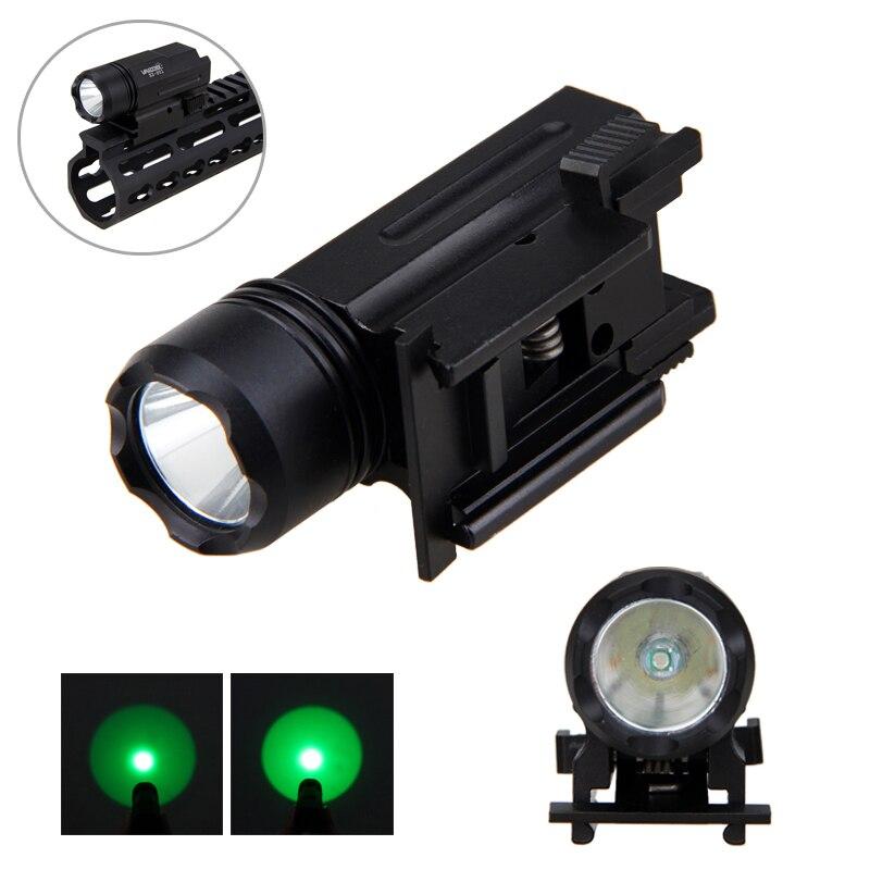 Waterproof Green Hunting Flashlight Torch Tactical XPG-Q5 Lantern Handy Light Only Lamp No Battery