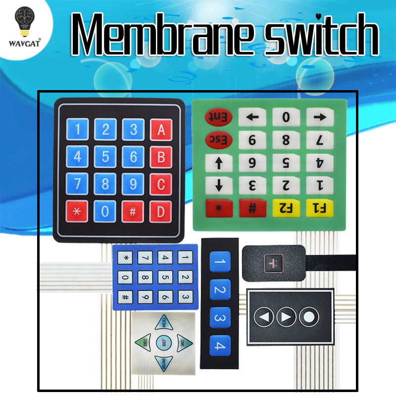 1 3 4 <font><b>5</b></font> <font><b>12</b></font> 16 20 Key 4 x 4 Membrane Switch Keypad 3x4 4x4 4x5 Matrix Array Matrix keyboard image