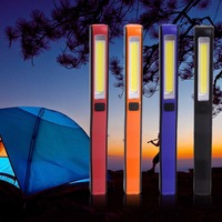 1pc 2016 Super Deal 2 In 1 USB Rechargeable Portable Lightweight COB LED Camping Work Inspection