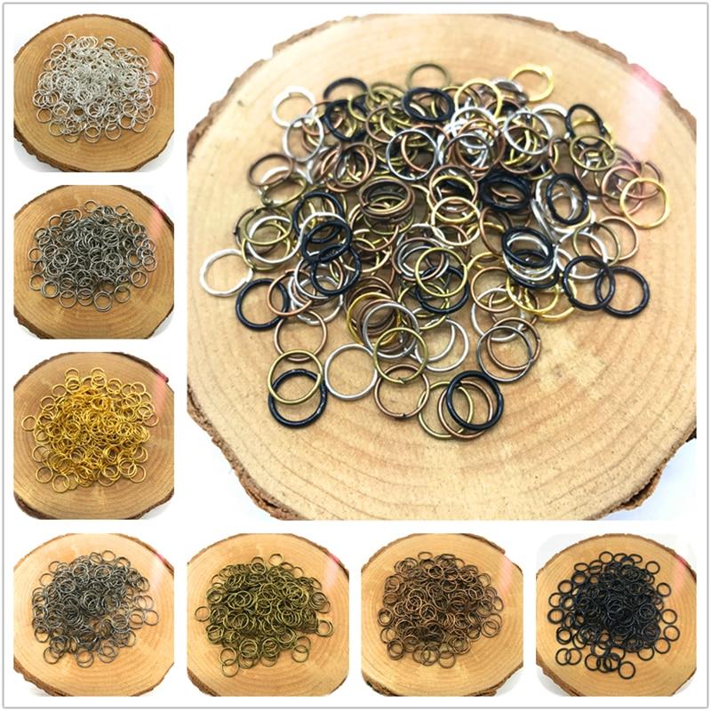 4/6/8/10mm 500/300/200/100pcs Metal Open Jump Rings Split Rings Connectors For Jewelry Making DIY Jewelry Findings