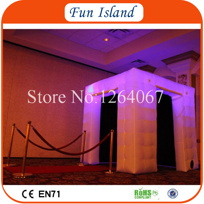 Free Shipping Portable LED Photo Booth Tent Inflatable Photo Booth For Sale white cube portable inflatable photo booth tent inflatable photo booth enclosure with window and colorful led toy tent