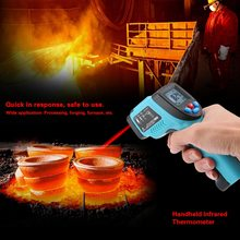 RICHMETERS GM550 Digital Infrared IR Thermometer Temperature Tester Pyrometer LCD Display +Backlight  -50~550 Centigrade Degrees infrared thermometer ht 868 50 350 centigrade hand held with lcd display economical type