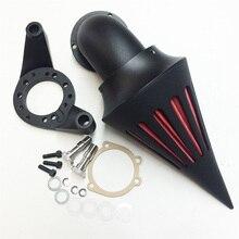 Aftermarket free shipping motorcycle Spike Air Cleaner intake filter kit for Harley Davidson CV Carburetor Delphi V-Twin BLACK