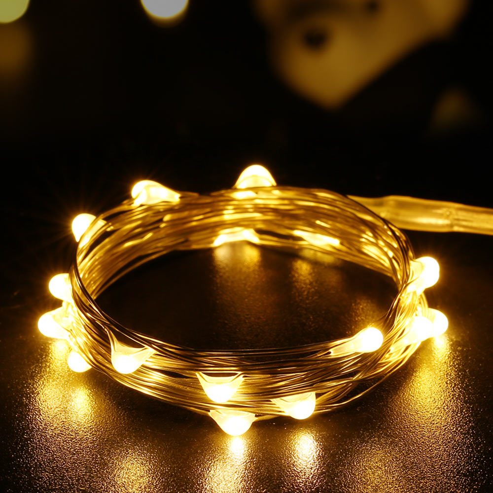New 20 Led Warm White Micro Starry Copper Wire String