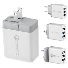30W 5V 3A USB Charger Quick Charge 3.0 Mobile Phone For iPhone 3 USBs Ports Fast QC Chargers Huawei Samsung LG