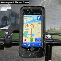 Motorcycle Bicycle Phone Holder Support For IPhone7 7Plus 6s Plus 5s SE GPS Sport Waterproof Protective