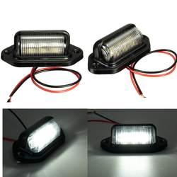 Номерной знак свет лампы для лодки мотоцикл автомобильный самолет RV грузовик прицеп 12 В в 6 светодиодов