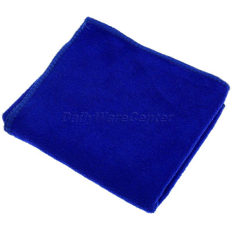 1Pc Blue 30x70cm Soft Microfiber Absorbent Car Wash Cloth Washing Towels Duster Auto Care Microfibre Cleaning Sponge Cloth Car-S