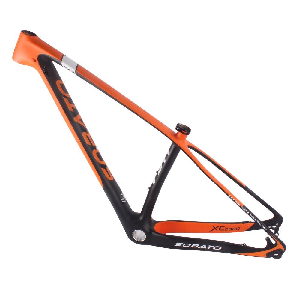 Mtb frame 29er carbon fiber mountain bike hardtail frame size 15\
