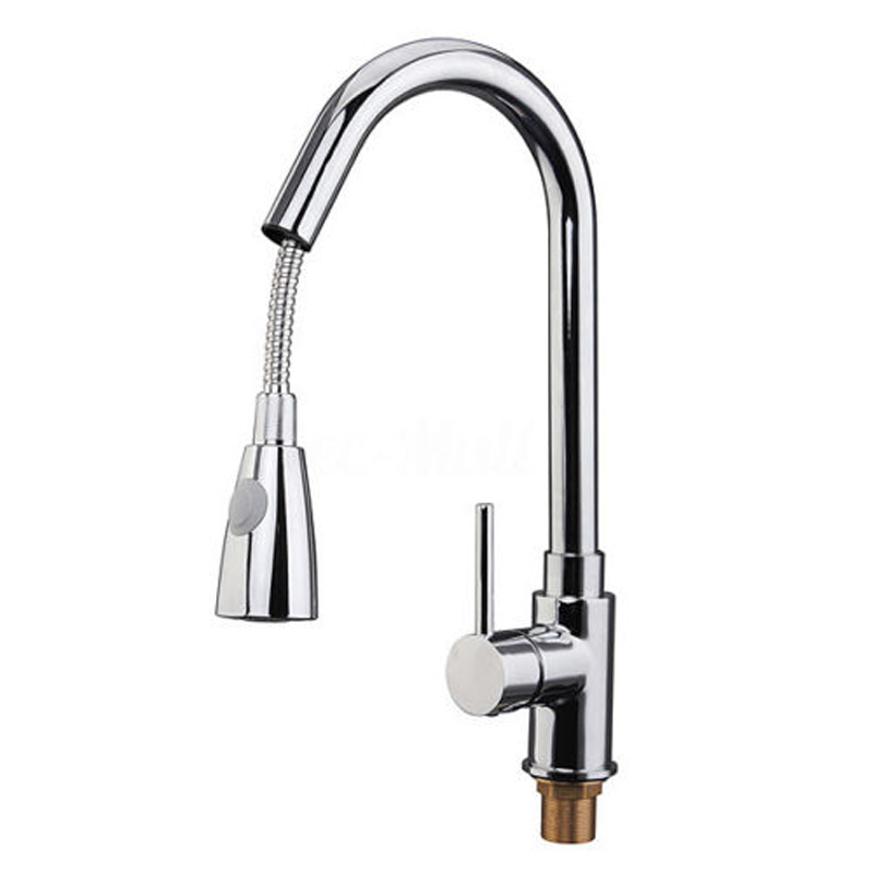 Single Handle Kitchen Faucet Mixer Pull Out Kitchen Tap Single Hole 360 Rotate Chrome Sink Mixer Tap Silver new arrival tall bathroom sink faucet mixer cold and hot kitchen tap single hole water tap kitchen faucet torneira cozinha