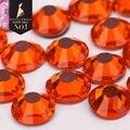 Crystal Castle 4A glass flatback rhinestone Hyacinth Orange non hot fix crystal none glue no hotfix strass rhinestone for nail