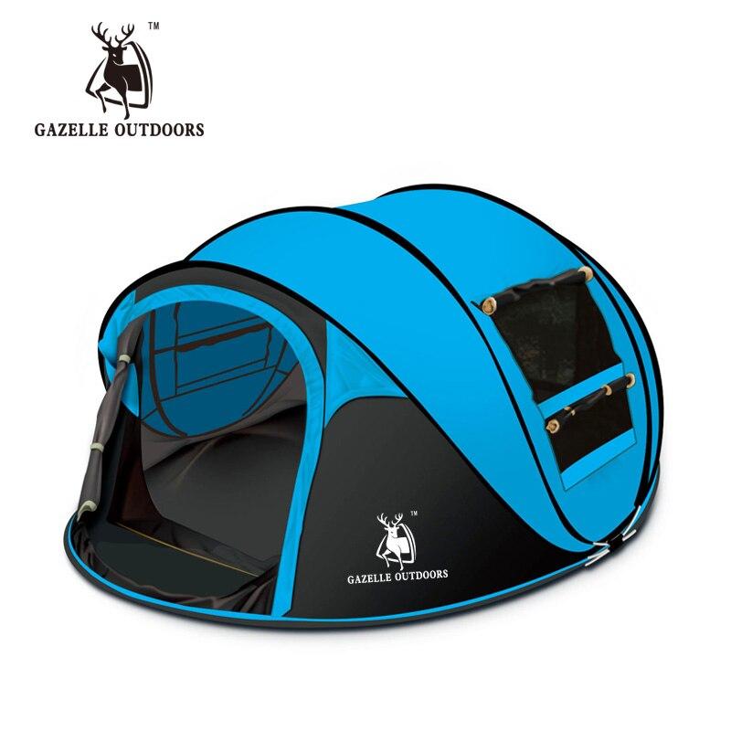 2017 nouveau grand spece extérieur 3-4people automatique pop up tente coupe-vent plage camping tente