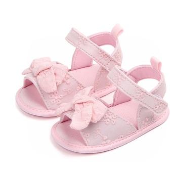 Newborn Baby Girl Shoes Summer Bowknot Cute Shoes Toddler Casual Crib Sandals For Girls tanie i dobre opinie WEIXINBUY CN (pochodzenie) Mieszkanie z Sandały COTTON Cotton Fabric Lato Pasuje prawda na wymiar weź swój normalny rozmiar