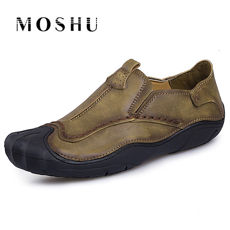 Vintage Men Shoes Casual Luxury Comfortable Loafers High Quality Leather Shoes Autumn Footwear Male Flats Moccasins Shoes