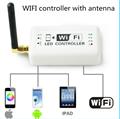 Wi-fi sem fio rgb levou controlador tira dc7.5-24 vfor ios iphone ipad android smartphone tablet casa amplificador de controle do sistema