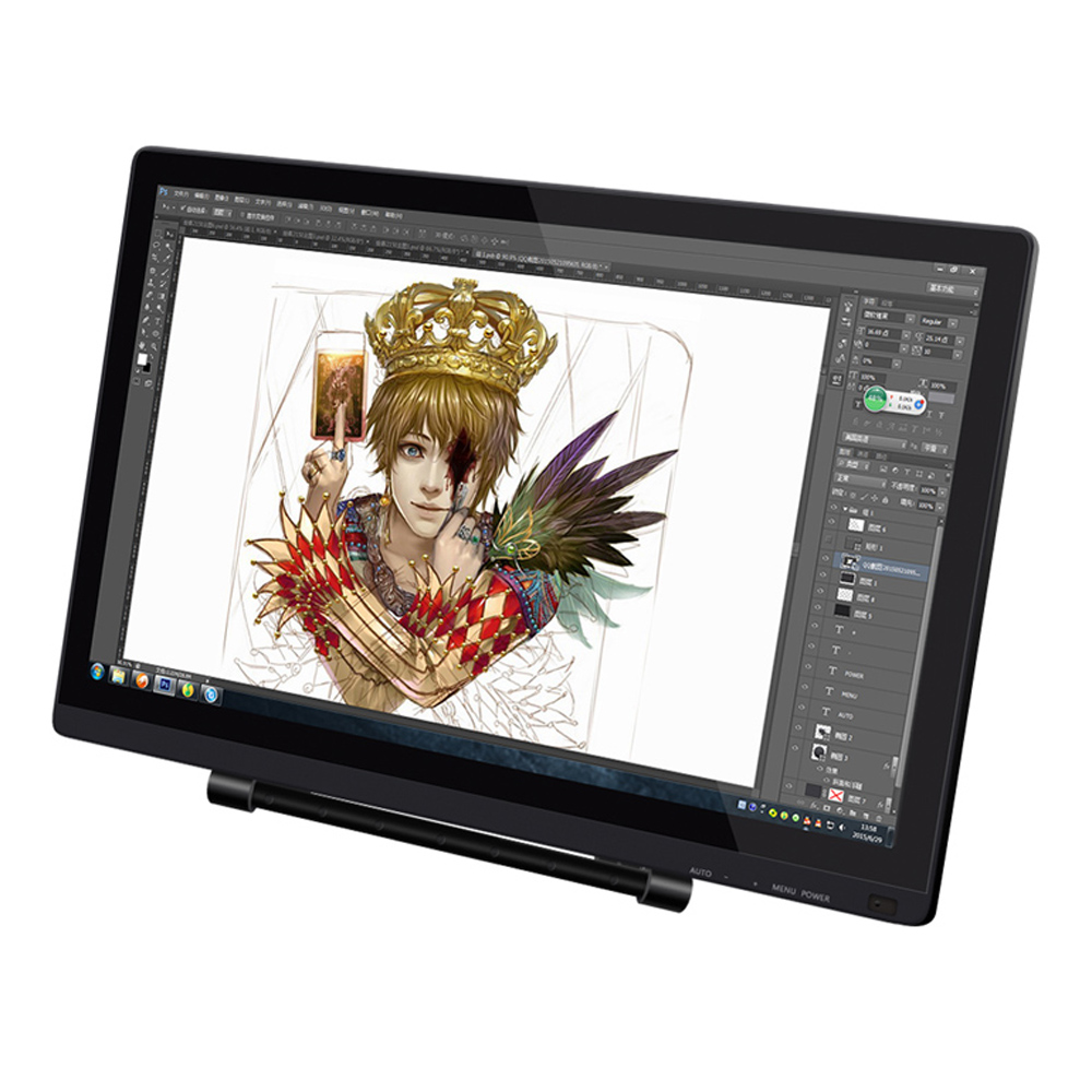 UGEE UG-2150 21.5'' IPS Screen P50S Pen Smart Drawing Tablet 5080LPI Resolution Graphic Drawing Tablet 1080P HD Display Monitor 2 pens ugee 21 5 ips ug 2150 digital graphic drawing tablet monitor 2048 pen pressure protector cover glove usb cable
