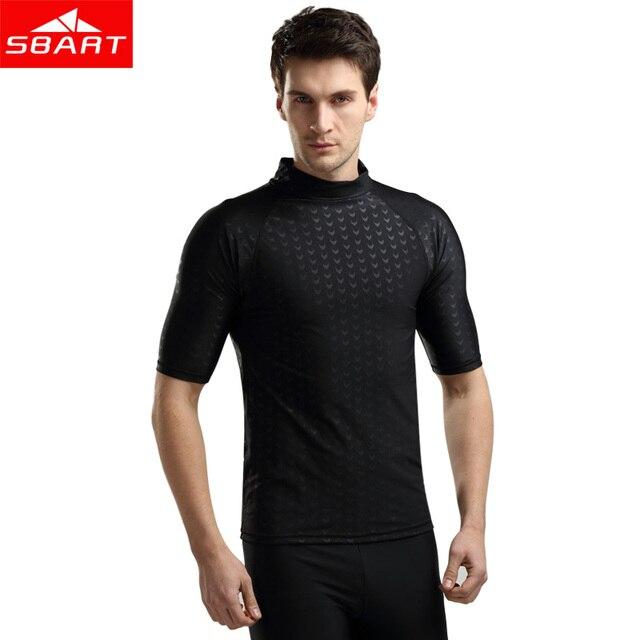 114f94d812641 SBART manga corta erupción hombres nadar camisa sol protección de piel de  tiburón
