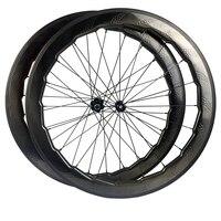 NSW 454 Dimple Carbon Wheel 58mm Road Bike Wheelset Disc Brake Hub 411 412 Hub Pillar 1420 Aero Spokes 700C