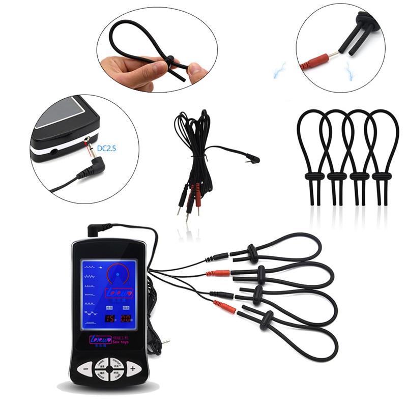 Électrochoc Plug Anal prise de pénis anneaux de Massage coussinet de Massage pinces à mamelon jouets à thème médical pour hommes électriques stimuler les jouets sexuels - 2