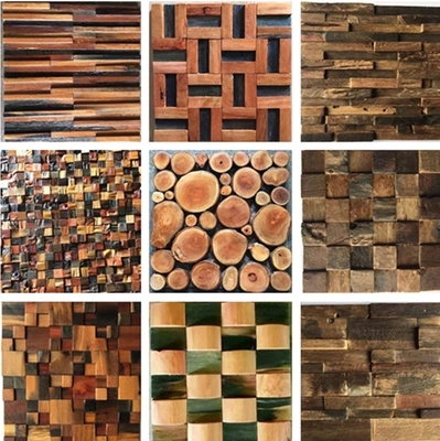 Anti corrosive mosaico di legno negozio villa soggiorno camera ...