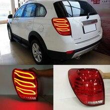 Поворотные автомобильные задние фонари для Chevrolet Captiva 2008- задние фонари светодиодный DRL ходовые огни Противотуманные фары с ангельскими глазками задняя парковка