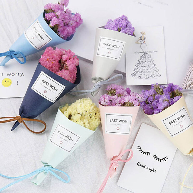 Aliexpress compre mini one bunch lavender flower forget me not mini one bunch lavender flower forget me not bouquet natural dried flower wedding decorative junglespirit Image collections