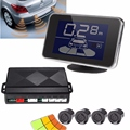 Solar Wireless Car LED Display Parking Sensor Assistance Reverse Backup Radar Monitor System + 4 Sensors Buzzer Alarm