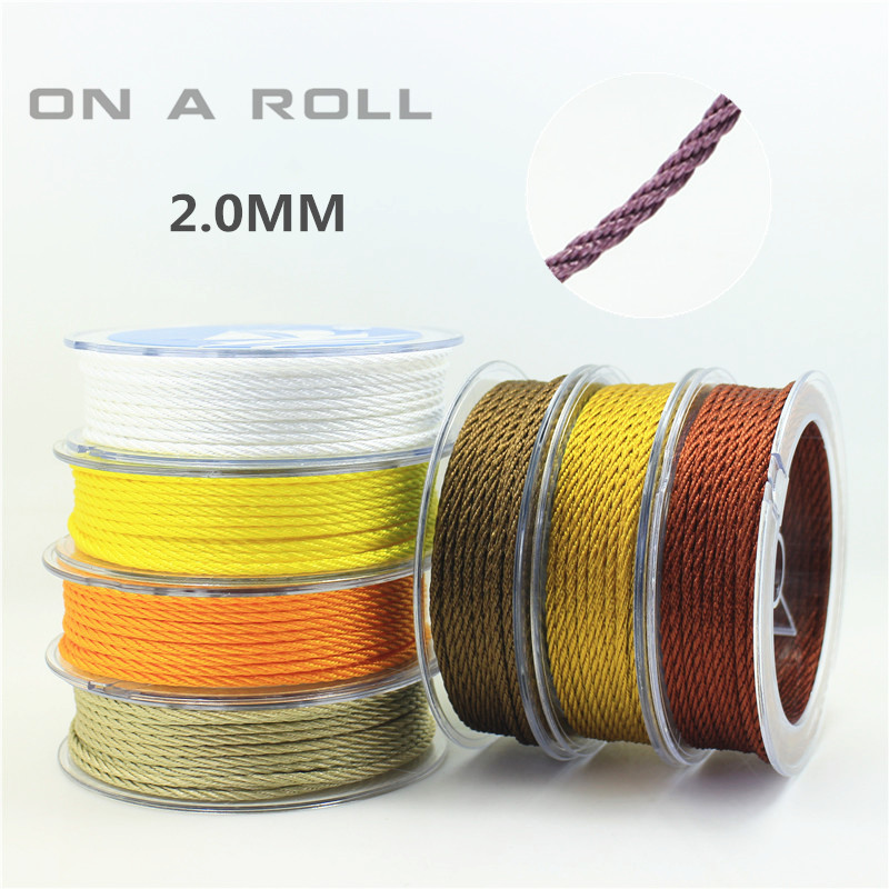 2mm Thread Cord String Strap  Necklace Beading Rope For Chinese Braided Knot DIY 14 Color 6M/roll