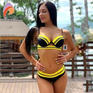 Image 2 - Andzhelika Bikini Nữ Đồ Bơi Gợi Cảm Thư Băng Miếng Dán Cường Lực Đầm Đẩy Lên Bikini Bộ Áo Tắm Đồ Bơi Monokini