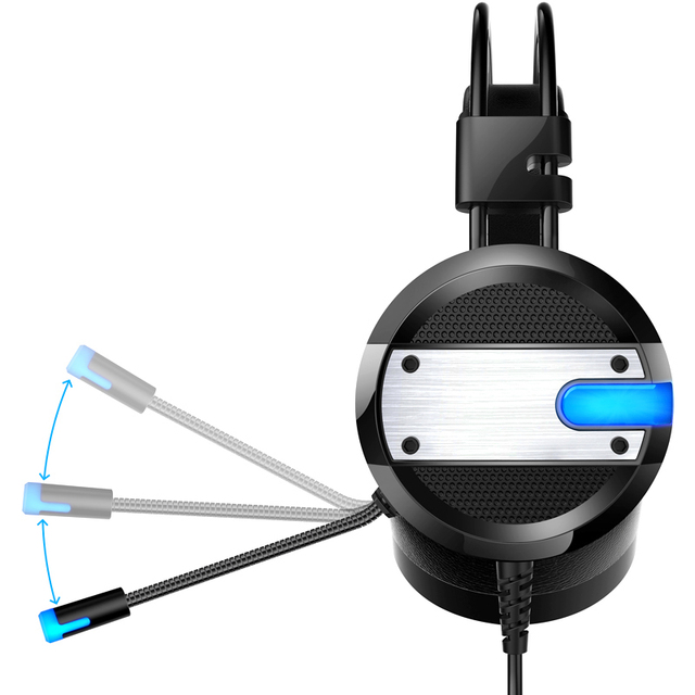 Wired Gaming Headset with Deep Bass and LED mic 1