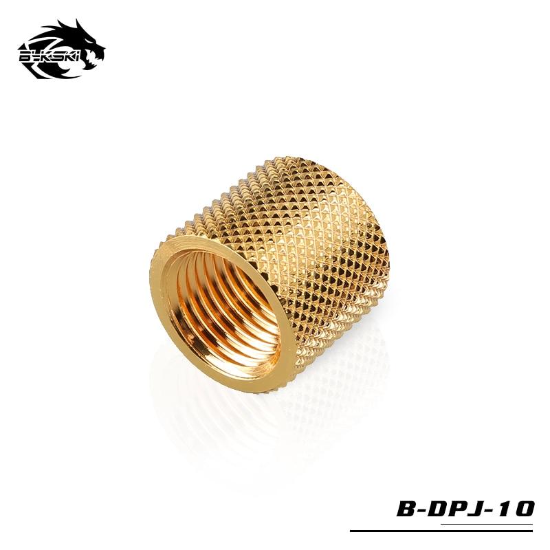 Bykski 15 мм расширитель алмаз двойной женский фитинг резьба G1/4 B-DPJ-10 - Цвет лезвия: Gold
