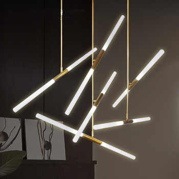Modern LED Chandelier lighting Nordic Iron and Glass Hanging lights For living room bedroom Restaurant Gold/Black Pendant lamp - DISCOUNT ITEM  30 OFF Lights & Lighting