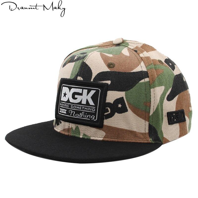 Brand DGK   Caps     Baseball     Cap   Gorras Snapback Hat Adult Camouflage Adjustable Hats For Men Women Hip Hop   Cap   Casquette men's   cap