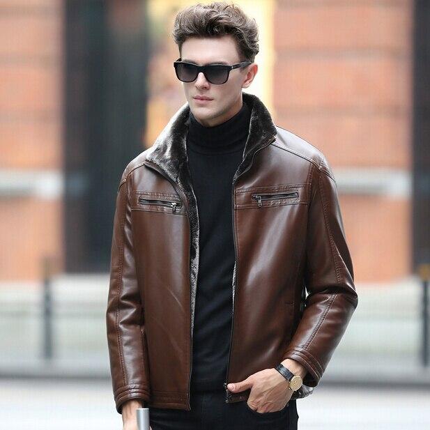 Бесплатная доставка мужская одежда новое кожа, высокого класса овечьей шкуре, натуральной кожи куртка, мужчины зимой шуба, M-XXXL