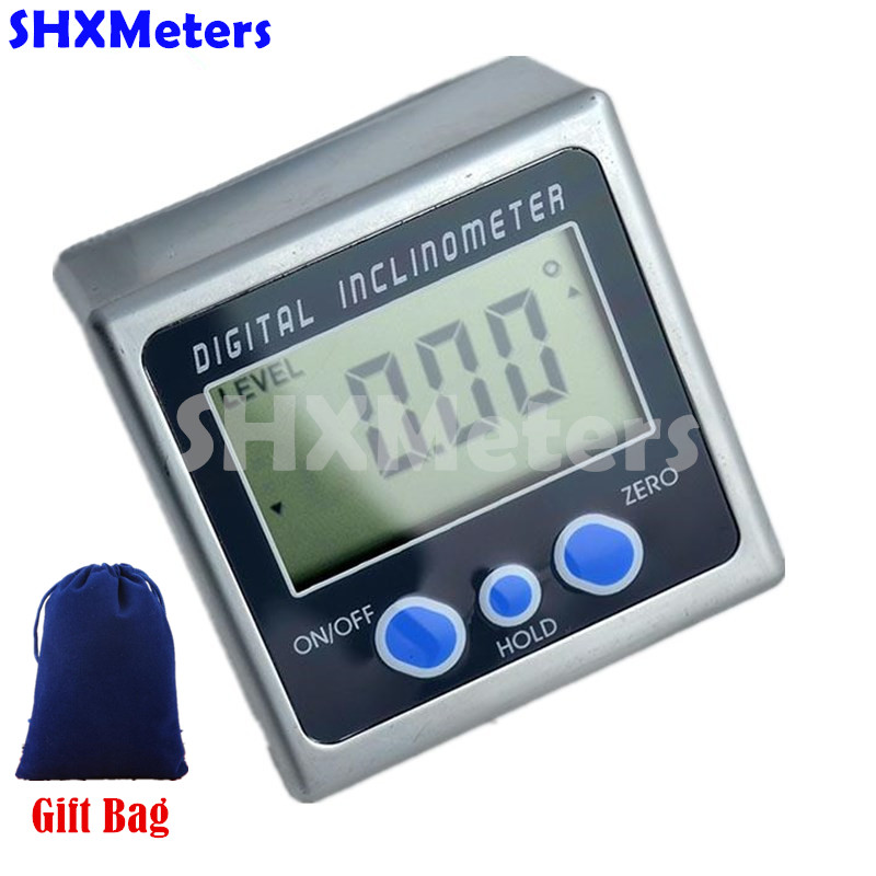 Digital Protractor Inclinometer Level Box Level Measuring Tool Angle Meter Angle Finder Angle Gauge Magnetic Base with Gift Bag  цены