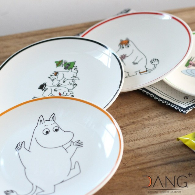 Fashion Cartoon Animal Moomin Hippo Pattern Plate Cute Bread Dessert Dinner Salad Sushi Cake Creative Tableware : creative tableware - pezcame.com