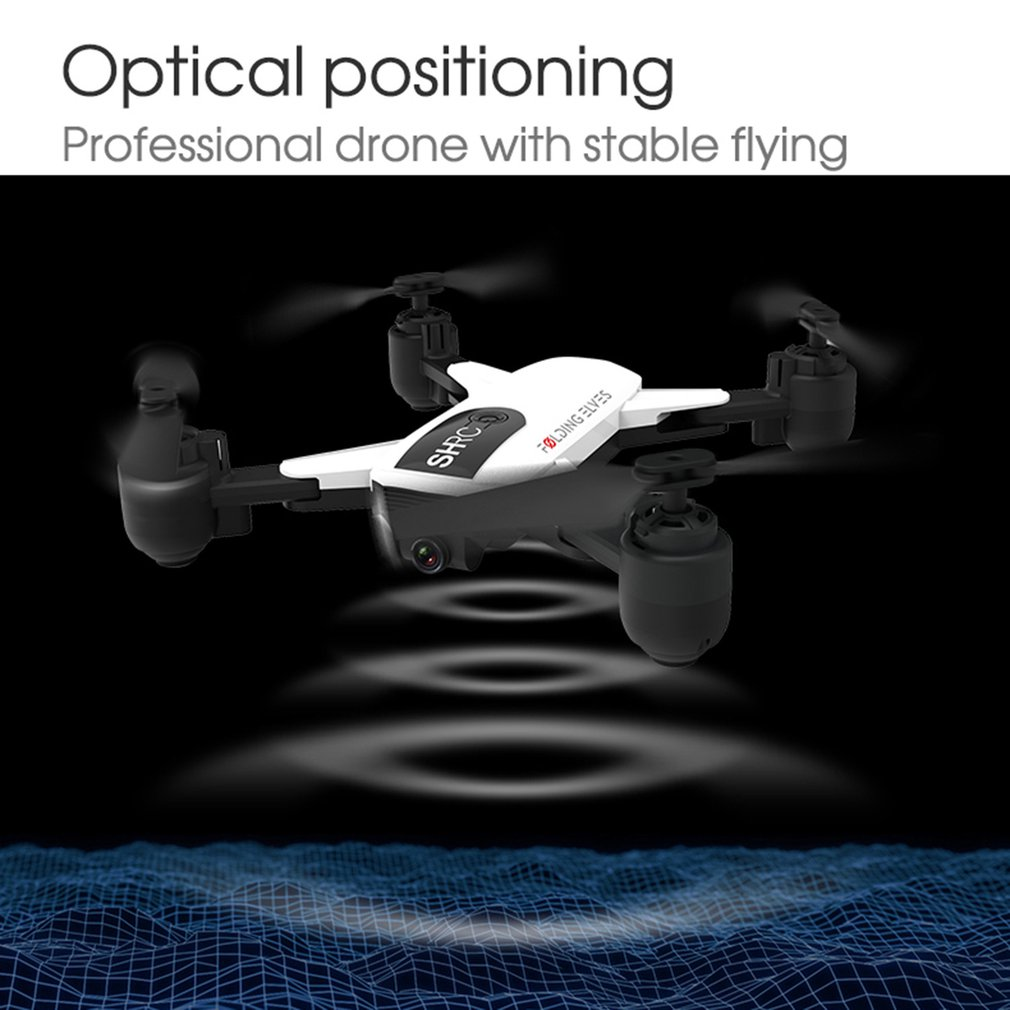 lowest price H1W RC Drone Quadcopter 1080P 2 4G Wifi FPV Aircraft Plane Optical Positioning Headless One Key Return Foldable VR Live Flight
