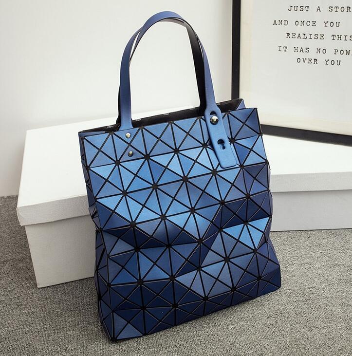 2017 New Japanese Women BAO BAO Bag Geometry Style Luxury Brand Ladies Shoulder Bags Top Quality PU Leather Matt Surface 8*8