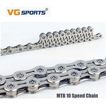 VG Sports 10 Speed Mountain Bike Chain Half-hollow Chain Road Bicycle Folding Vehicle Variable Speed Chain 30 Speed Chain vg sports 6 7 8 speed bike chain mtb mountain road folding bike bicicleta parts steel solid chain bicycle replacement 116 link
