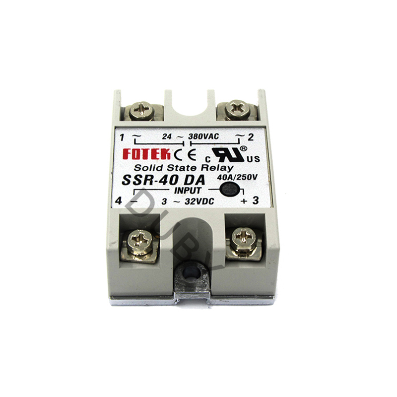 SSR 40 DA Industrial Solid State Relay DC to AC Solid State Relay Module for SSR 40DA Temperature Controller 24V 380V 40A 250V-in Relays from Home Improvement    1