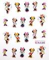 1 Hoja de Mickey Ratón de Dibujos Animados de Uñas de Arte de Uñas Art Water Transfer Sticker Decal Sticker Para la Decoración Del Arte BLE325