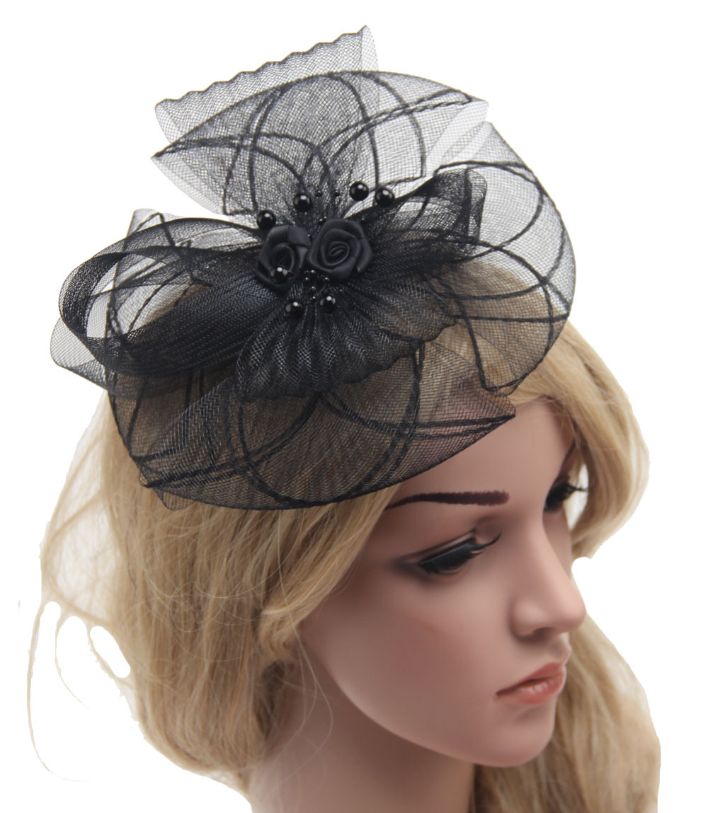 Wedding Vintage Style Hair Accessories: Retail Fascinator Cocktail Hat For Wedding Holiday Fashion