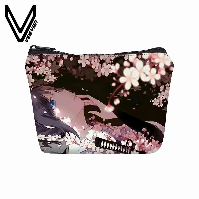 VEEVANV Women Wallets 3D Anime Printed Clutch Purse Girls Coin Purse Cute Cartoon Coin Pouch Canvas Key Storage Bag Small Pocket